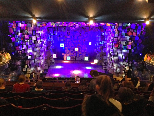 The staging for Matilda The Musical at London's Cambridge Theatre