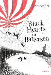 The cover of Black Hearts in Battersea by Joan Aiken to illustrate a post on favourite children's authors