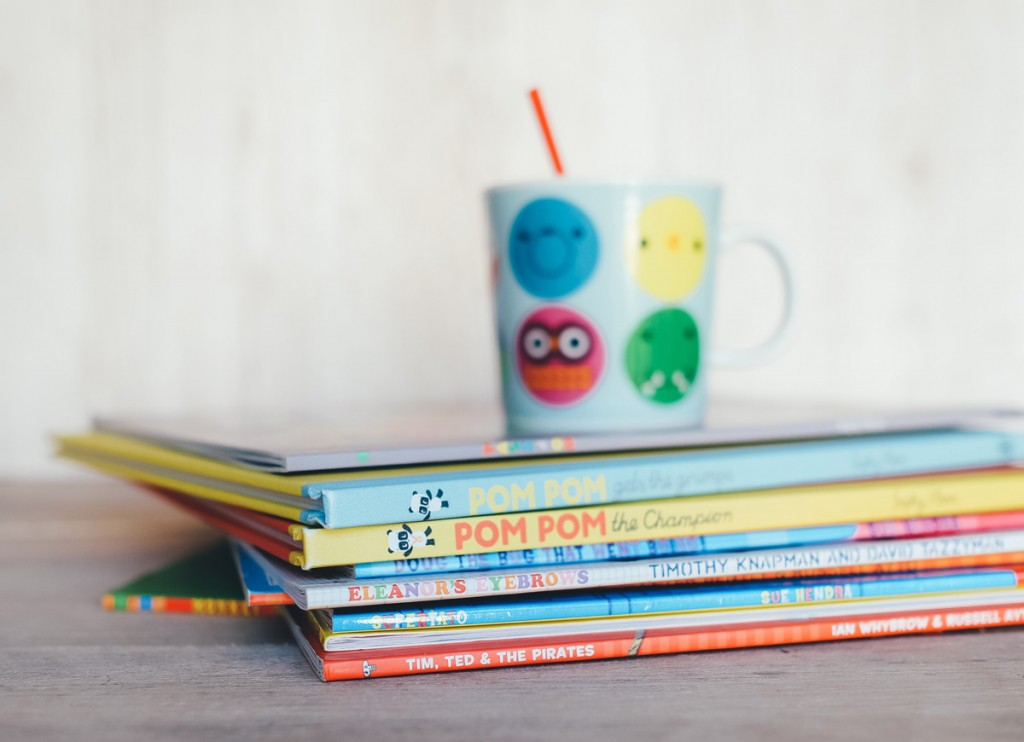 A photo of a pile of children's books to illustrate a post about favourite children's authors