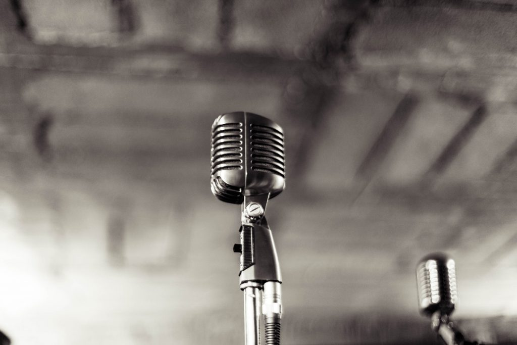 Photograph of an old-style microphone to illustrate a post about finding your tone of voice for blogging