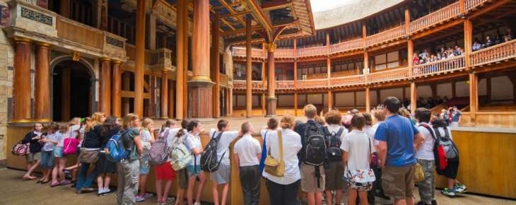 Shakespeare's Globe theatre on the inside