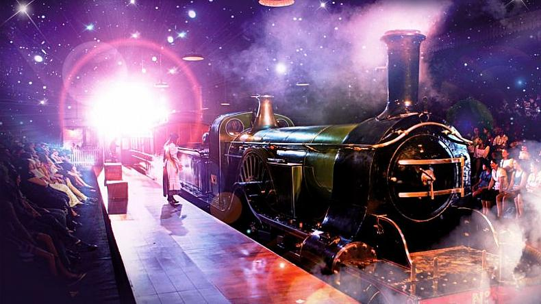 Photo of the play of The Railway Children showing a steam train children's literary activities in London