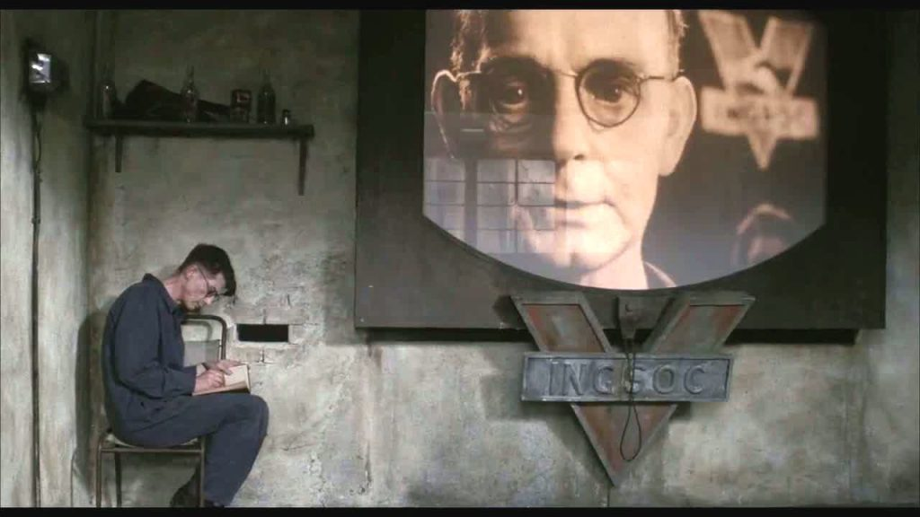 Scene for the film Nineteen Eighty-four to illustrate a blog post on Orwellian